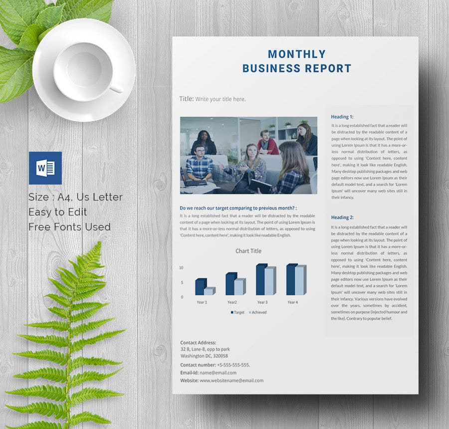 35 business report template free sample example format download business report template flashek Choice Image