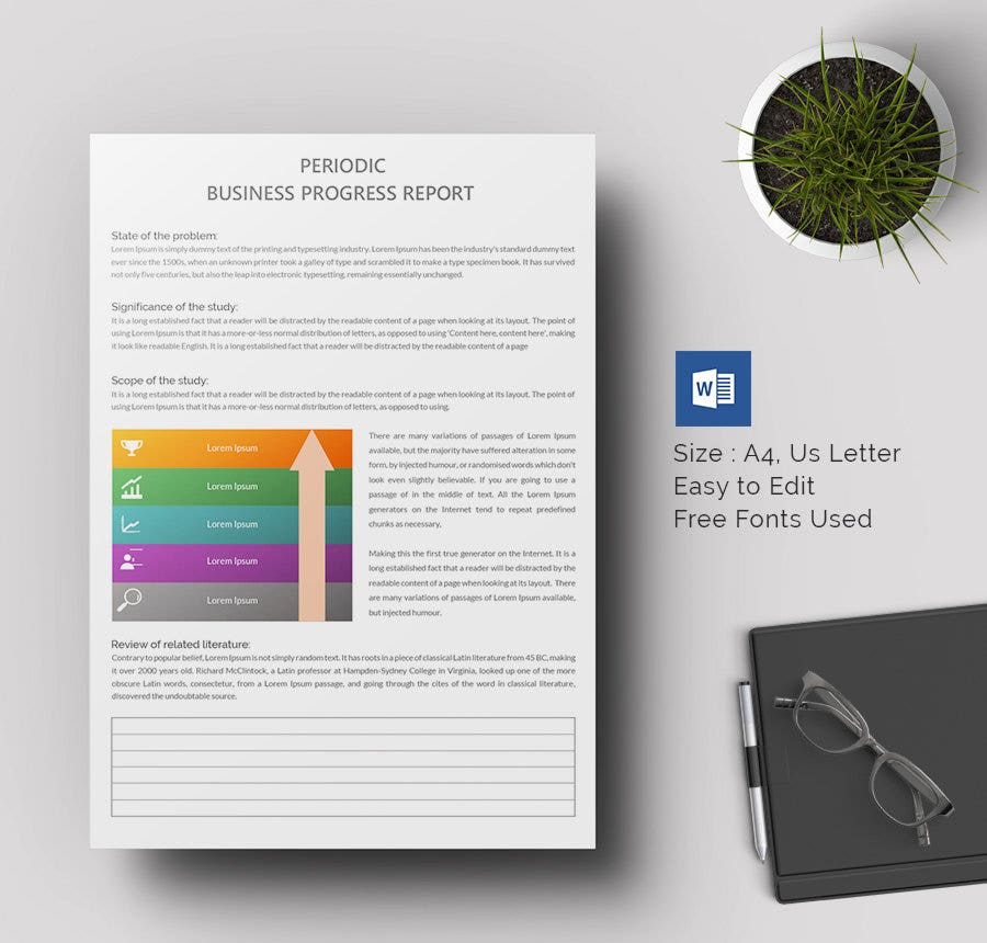 business report template word 2010