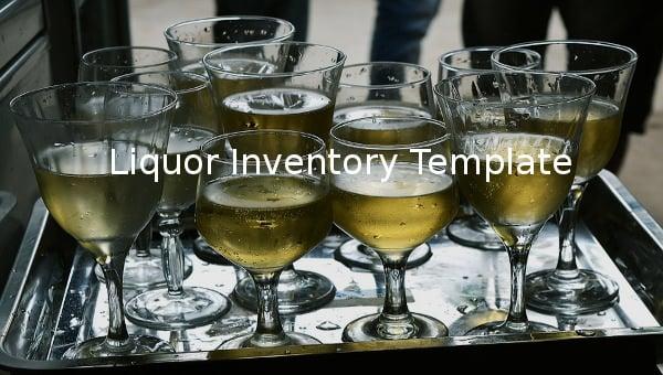 liquor inventory template