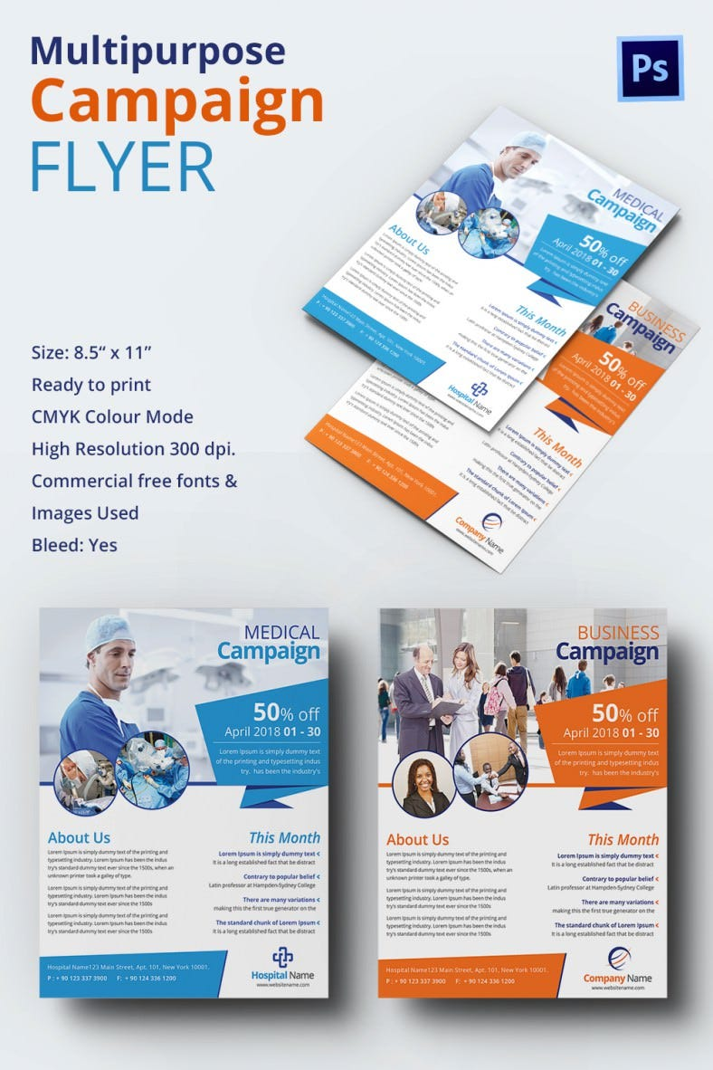Campaign Flyers – 34+ Free PSD, AI, Vector EPS Format Download ...
