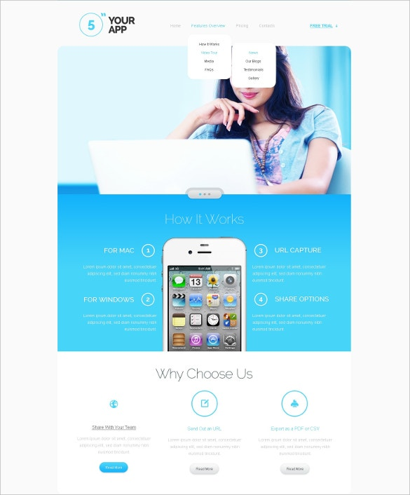 Responsive Software Store Application Website Template