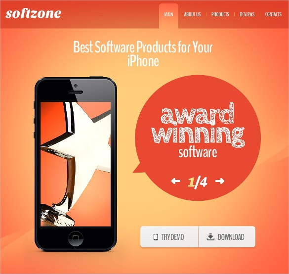 Software Store Application Website Template