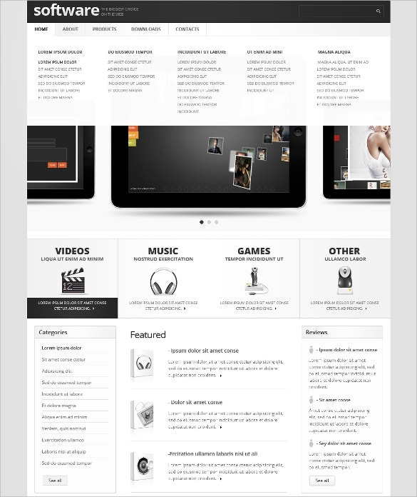 Software Application Website Template