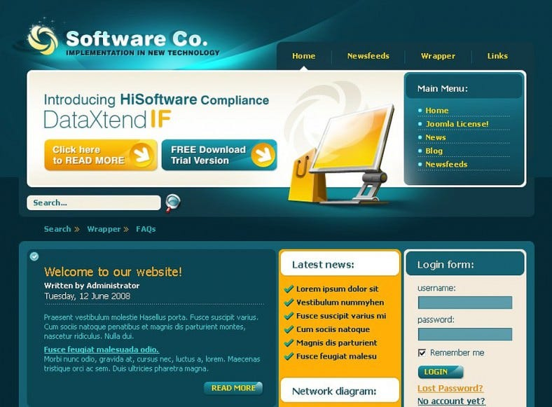 Software Company Joomla Template