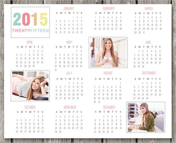 2015 2016 desk calendar template