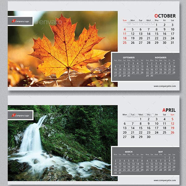 2015 desk calendar template 1