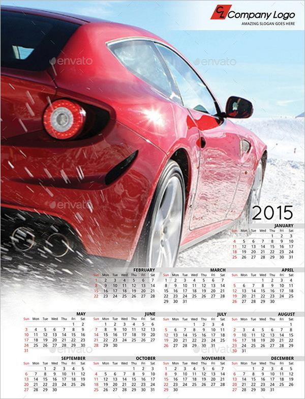 2015 poster calendar template