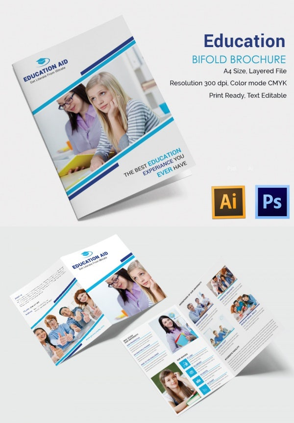 Education Bifold Brochure Template