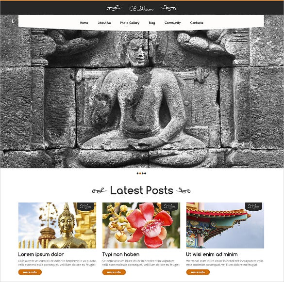 buddhist spiritual responsive wordpress template