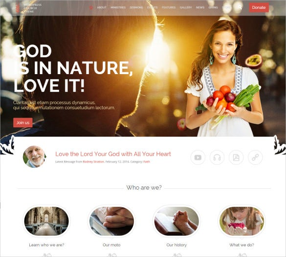 spiritual responsive wordpress template