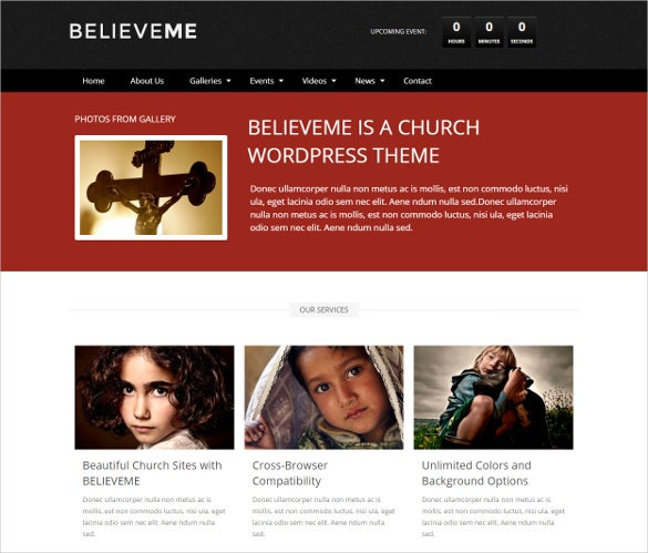 believe spiritual responsive church template