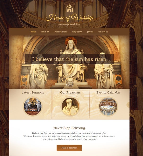 worship spiritual church wordpress theme