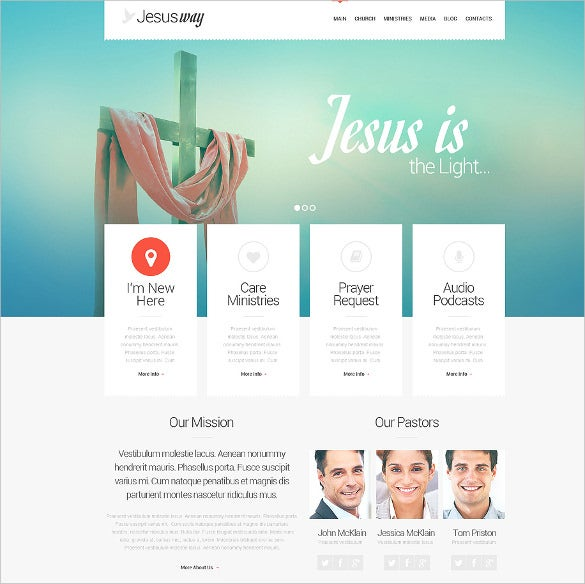 spiritual christian responsive wordpress theme