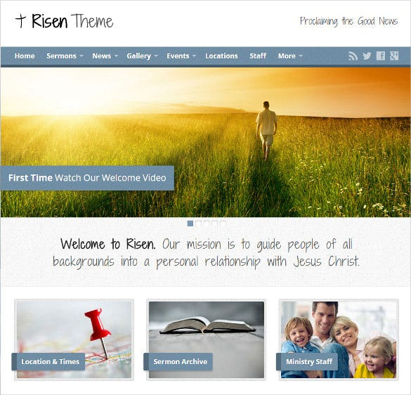 risen spiritual church wordpress template