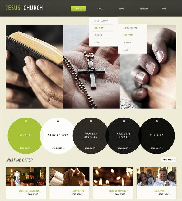 spiritual christian wordpress theme