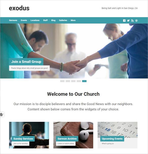 flexible spiritual church wordpress theme