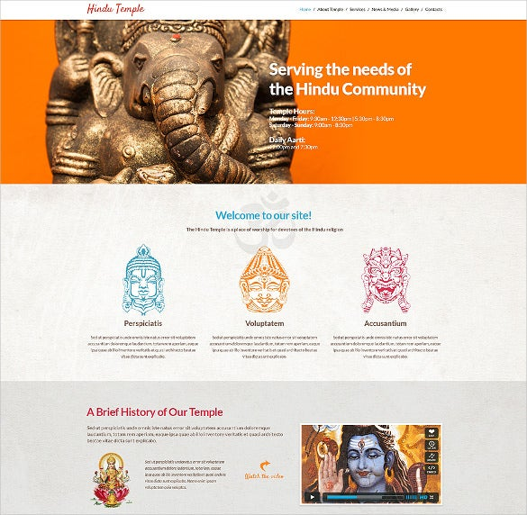 hinduism spiritual responsive wordpress theme