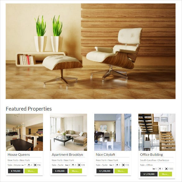 wordpress real estate responsive template