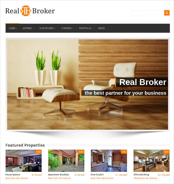 simple broker wordpress template