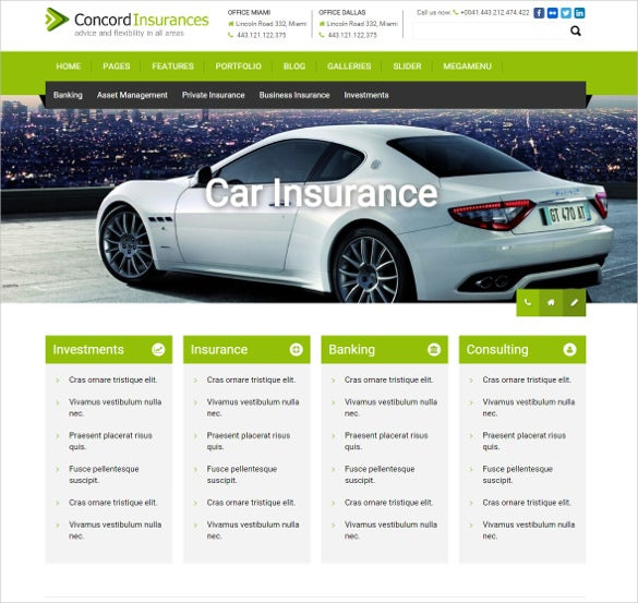 financial broker services wordpress template