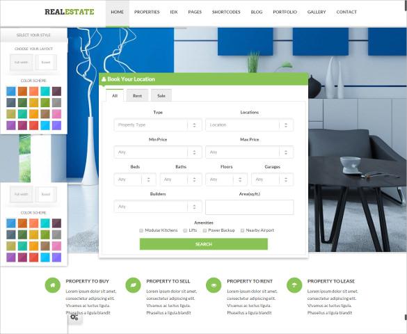 responsive broker real estate template