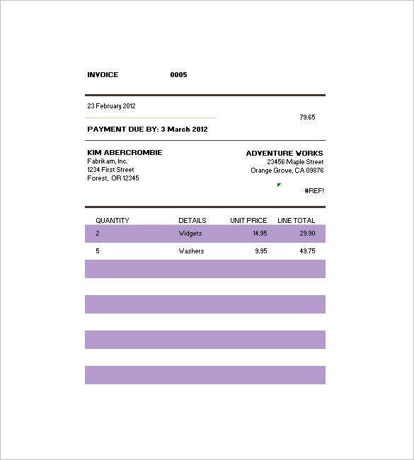 Billing invoice template 6 free printable word excel pdf this billing invoice template lays down the quantity description of the products their individual unit prices and the total payment and is an ideal pronofoot35fo Gallery