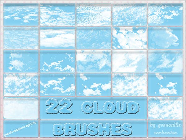 22 cloud brushes