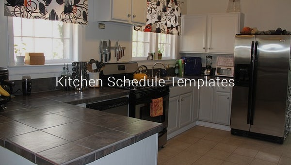 kitchenscheduletemplates