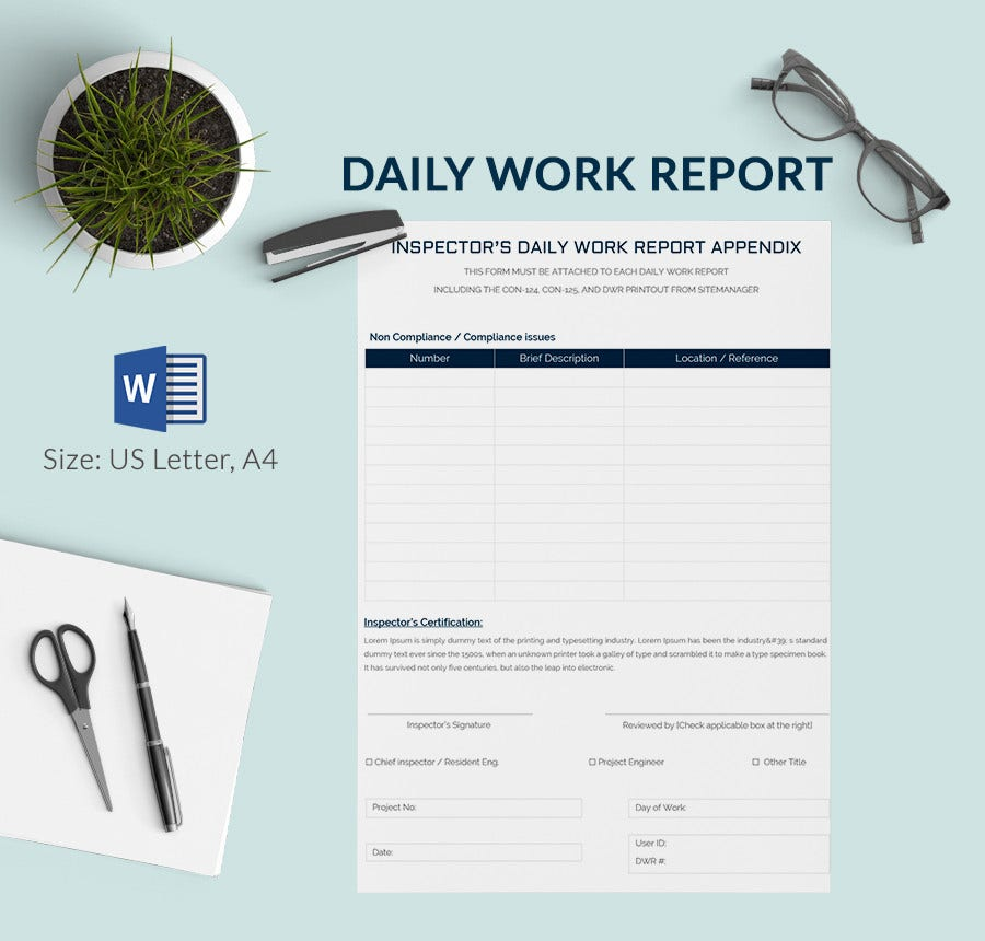 daily report template 25 free word excel pdf documents download free premium templates. Black Bedroom Furniture Sets. Home Design Ideas