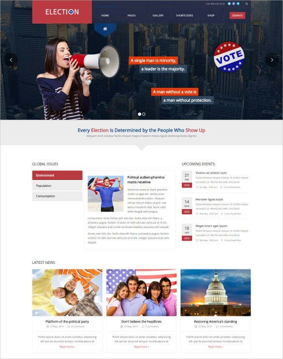 election political wordpress theme