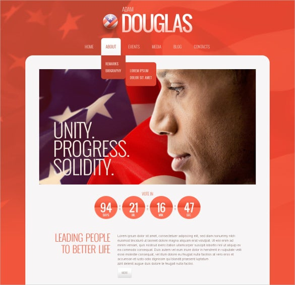 patriot political candidate wordpress templat
