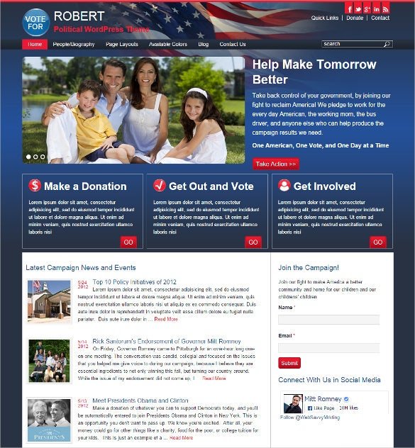robert political wordpress template