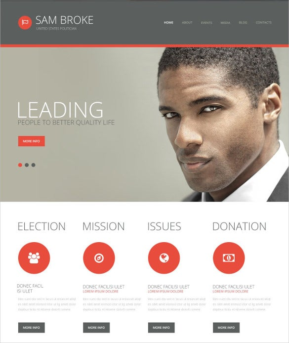 simple politics wordpress template
