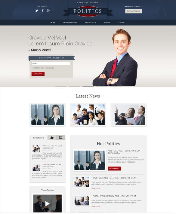 hot politics wordpress theme