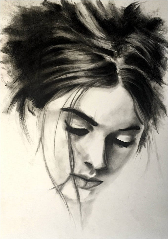 25 Charcoal Drawings Art Ideas Free Premium Templates