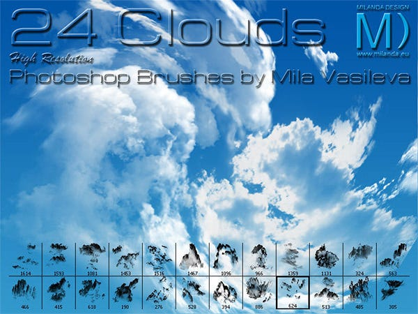 24 clouds brushes