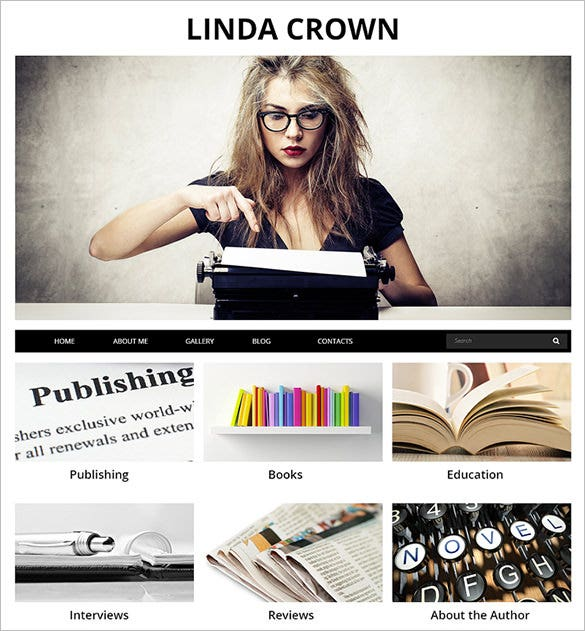 writer's page joomla template
