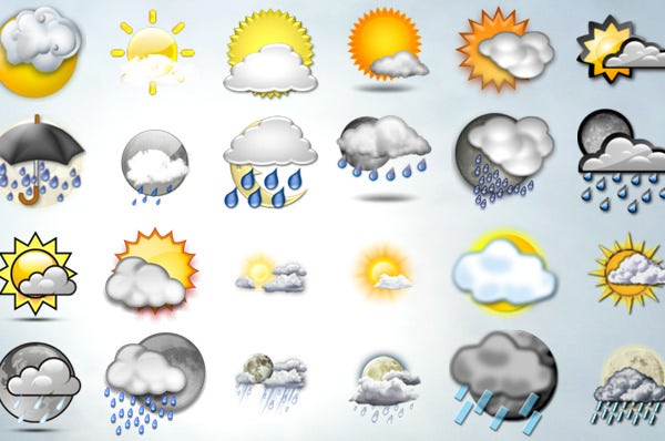 25 free and high quality weather icons