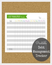 Debt Management Tracker Template Download