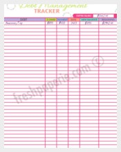 Debt Management Tracker Worksheet Template Download