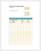 Employee Task Tracking Template Free PDF Format Download