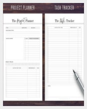 Project Task Tracker Planner Template