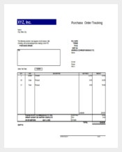 Purchase Order Tracking Excel Format Template Download