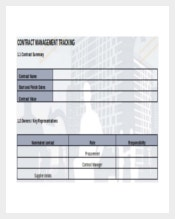Contract Management Tracking DOC Format Download