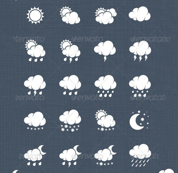 27 professional weather icon pack