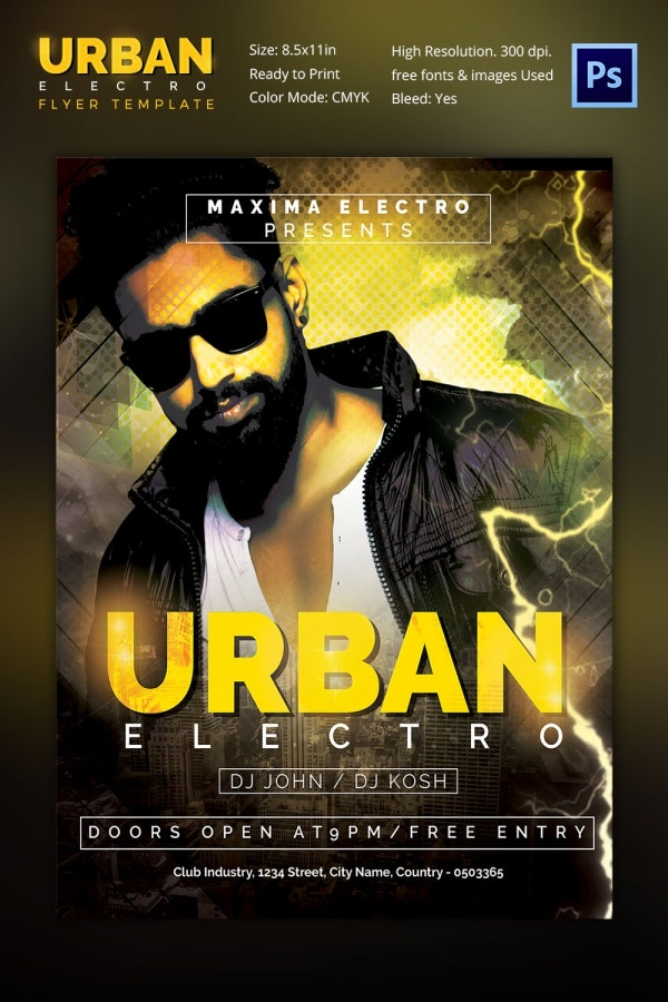 Live DJ Concert Flyer Template