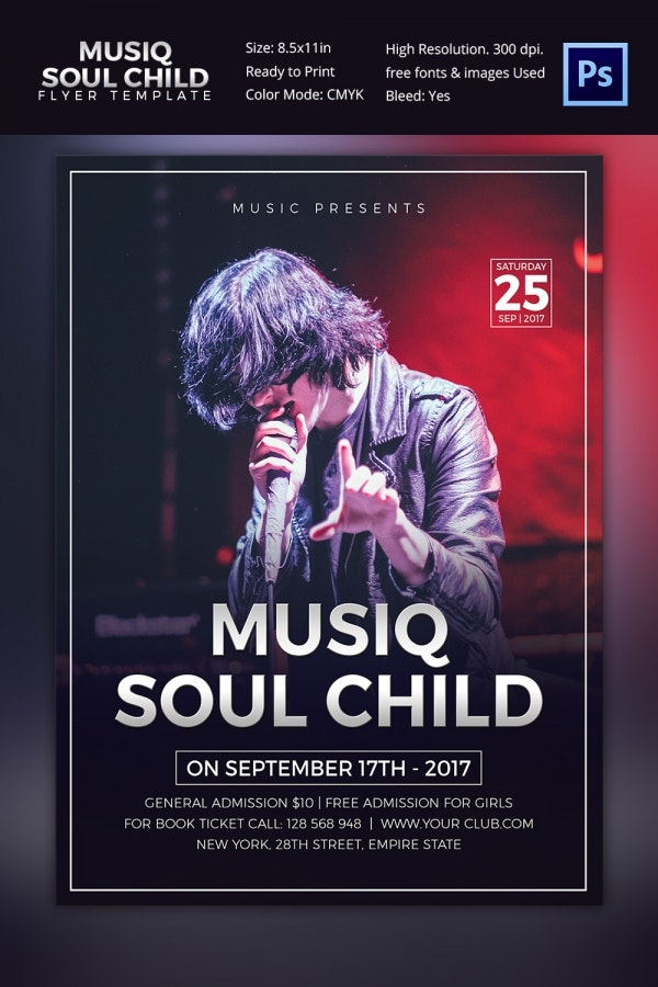 Free Concert Flyer Templates Gallery - Template Design Free Download