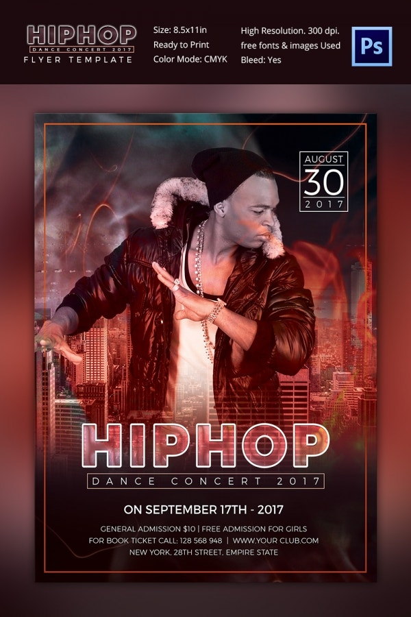Hip Hop Event Concert Flyer Template