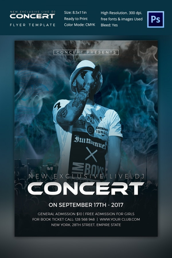 Exclusive Dj Concert Flyer