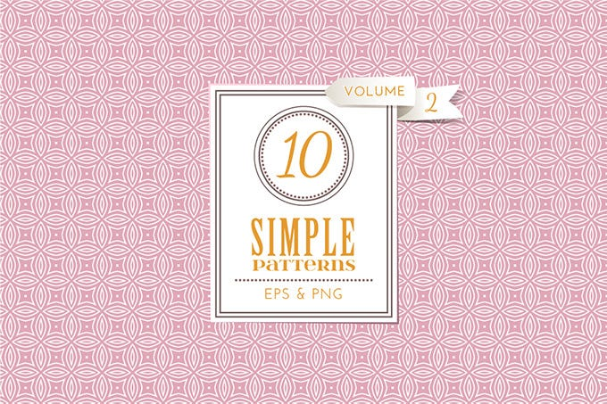 27365 set of 10 simple patterns vol